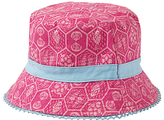 Fat Face Children's Sea Geo Print Bucket Hat, Fuschia
