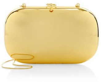 Jeffrey Levinson Elina PLUS 18K Goldplated Mirrored Clutch