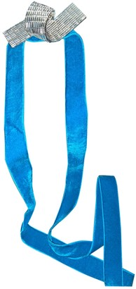 Mulberry Turquoise Suede Belts