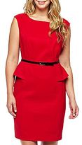 JCPenney Alyx® Belted Peplum Dress - Plus