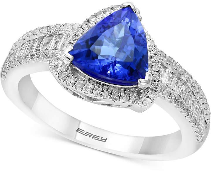 Effy Tanzanite Royale by Tanzanite (1-1/2 ct. t.w.) & Diamond (1/2 ct. t.w.) Ring in 14k White Gold
