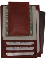 AG Jeans A&G Wallets Leather Magnetic Money Clip With Credit Card ID Holder Slim