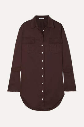 The Line By K - Roe Cotton-poplin Shirt Dress - Brown