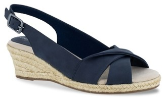 Easy Street Shoes Maureen Espadrille Wedge Sandal