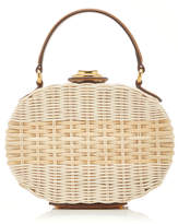 Mark Cross Gianna Wicker Box Top Handle Bag