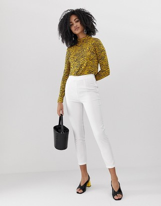 UNIQUE21 high rise tailored pant-White