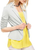 HaoDuoYi Womens Boyfriend Ultra Lightweight Slim One Button Blazer Jacket(XXL,)
