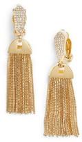 Vince Camuto Women's Clip-On Tassel Drop Earrings