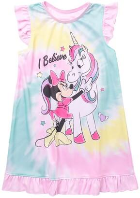 AME Minnie Mouse Unicorn Tie-Dye Nightgown