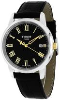 Tissot T-Classic T0334102605301 Men's Round Black Leather Watch