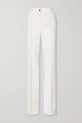 Akris Farid Stretch Cotton-blend Bootcut Pants - Ivory