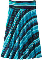 Joe Fresh Women's Stripe Midi Skirt, Dark Teal (Size S)