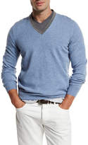 Brunello Cucinelli Contrast-Collar Cashmere Sweater, Bright Blue