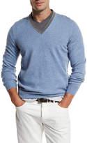 Brunello Cucinelli Contrast-Collar Cashmere Sweater