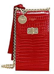 Givenchy Women's Catena Snakeskin-Embossed Leather Crossbody Phone Case