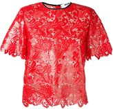 MSGM short-sleeve lace blouse
