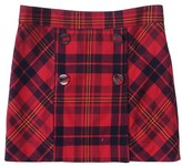 L.A.M.B. Red & Black Plaid Skirt
