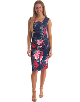 Teaberry Rouched Dress
