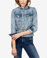 Lucky Brand Graphic Cotton Denim Jacket
