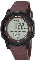 Calypso Unisex Digital Watch with LCD Dial Digital Display and Brown Plastic Strap K5698/5