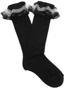 Gucci Ruffle-trimmed pointelle-knit socks