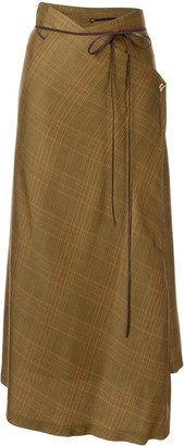 Muller of Yoshio Kubo Plaid Asymmetric Skirt