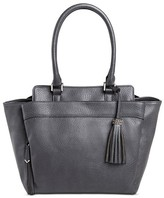 Sam & Libby Women's Faux Leather Tote Handbag - Grey
