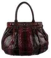 Zagliani Python Puffy Bag