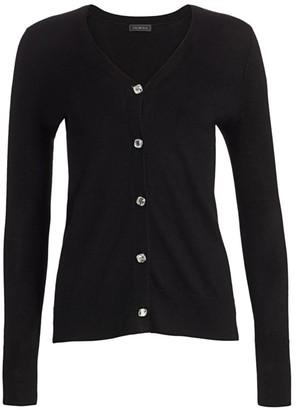 Saks Fifth Avenue Cashmere Jewel-Button Boyfriend Cardigan