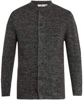 INIS MEÁIN Nehru ribbed-knit linen cardigan