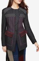 BCBGMAXAZRIA Garrett Asymmetrical Patchwork Coat