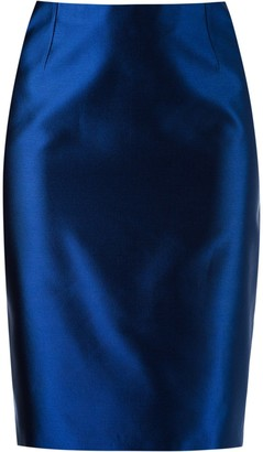 Martha Medeiros High Waist Pencil Skirt