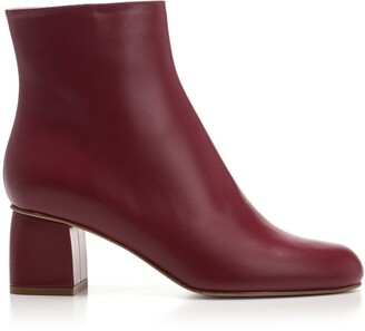 RED Valentino Block Heel Ankle Boots