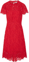 Diane von Furstenberg Alma Cutout Corded Lace Dress - Red