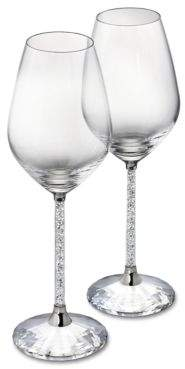 Swarovski Crystalline Red Wine Glasses Set of 2