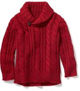 Old Navy Shawl-Collar Cable-Knit Sweater for Toddler
