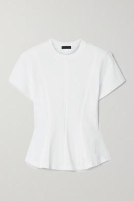 ATM Anthony Thomas Melillo Cotton-jersey Peplum T-shirt - White