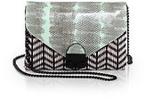 Loeffler Randall Junior Mixed-Media Convertible Lock Clutch