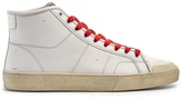 Saint Laurent Court Classic mid-top leather trainers