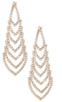 Nina Women's Crystal Chandelier Earrings