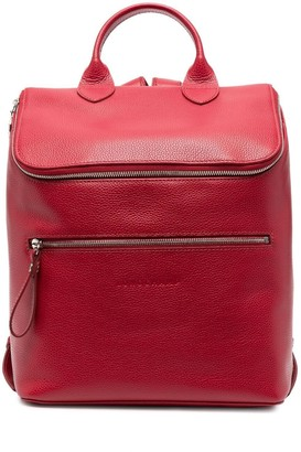 Longchamp Zipped Leather Backpack