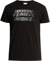 Saint Laurent Punk rock-print cotton T-shirt