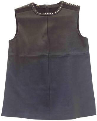 Maje Black Leather Knitwear