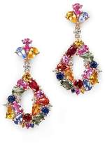 Bloomingdale's Multi Sapphire Drop Earrings with Diamonds in 14K Rose Gold - 100% Exclusive