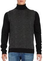 Ben Sherman Patterned Turtleneck Sweater