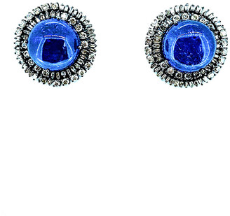 Arthur Marder Fine Jewelry Silver 2.44 Ct. Tw. Diamond & Tanzanite Earrings