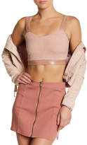 Missguided Faux Suede & Faux Leather Cropped Bustier Tank