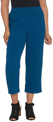 Linea by Louis Dell'Olio Regular Crepe Gauze Pull-On Crop Pants