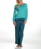 Catherine Malandrino Blue Ikat Pajama Set