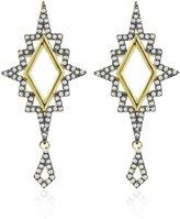 Noir Earrings White Opal/gold Size Os